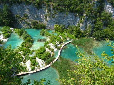 A wonderful discovery, the Plitvice lakes in Croatia